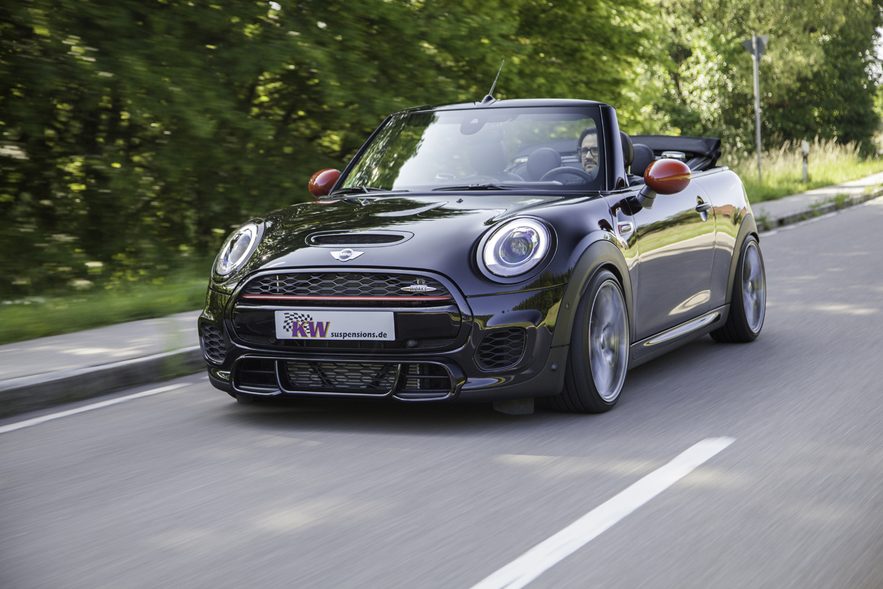 idealne zawieszenie dla wymagaj cych mini john cooper works cabrio f57 kw suspensions. Black Bedroom Furniture Sets. Home Design Ideas